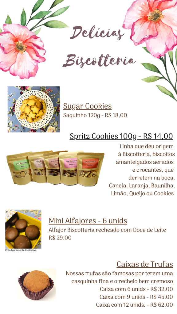 Biscoitos dia das mães